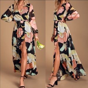 NWT Lulus Wondrous Lilies Maxi Dress | Sma…